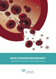 ÖKAD BLÖDNINGSBENÄGENHET - hematology.fi