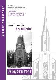 Abgerüstet - Kreuzkirche Bonn