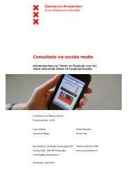 Consultatie via sociale media - Onderzoek en Statistiek Amsterdam ...