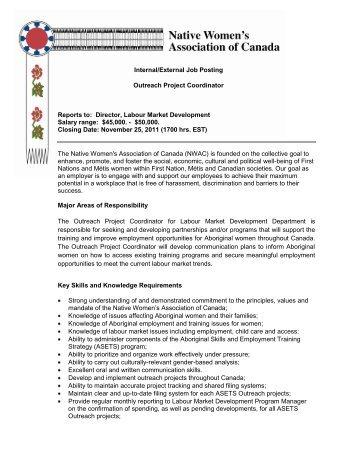 Internal/External Job Posting - Native Women's Association of ...