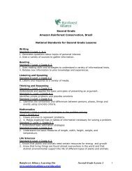 Rainforest Alliance Learning Site Second Grade-Lesson 2 1 www ...