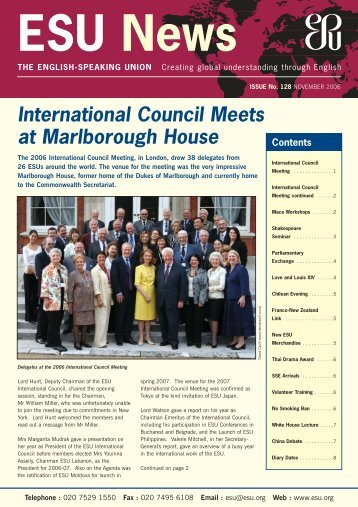 November 2006 - The English-Speaking Union