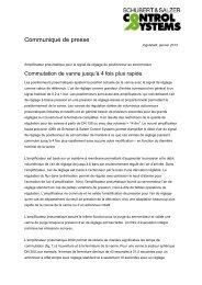 Veuillez trouver ici l'article complet (PDF) - Schubert & Salzer