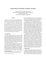 Spam-Resilient Web Rankings via Influence Throttling - TAMU ...