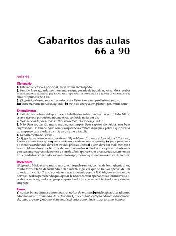 Gabaritos das perguntas - Passei.com.br