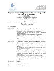 Regulacija prava na pristup informacijama i Sprječavanje sukoba ...
