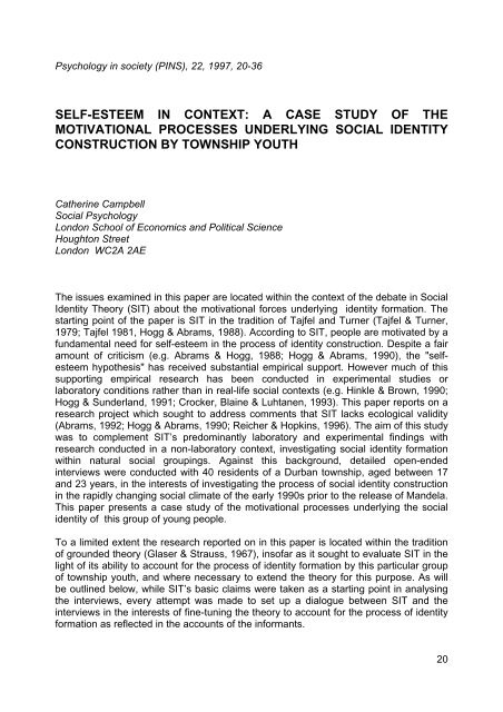 social identity theory case studies