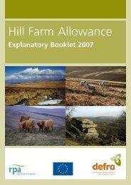 Hill lFarm Allowance Explanatory Booklet.pdf - The Rural Payments ...