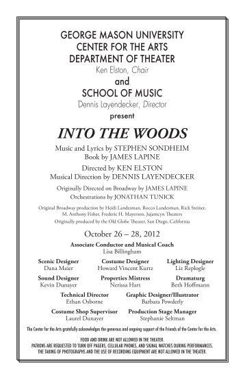 INTO THE WOODS - George Mason University School of Music