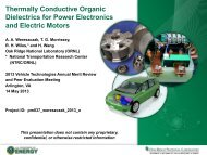 Thermally Conductive Organic Dielectrics for Power Electronics and ...