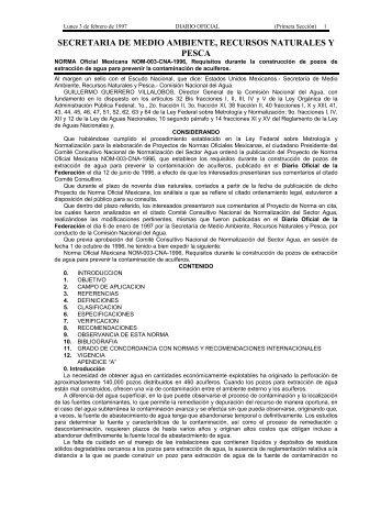 NOM-003-CNA-1996 - Comisión Nacional del Agua