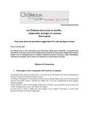 Les Châteaux de la Loire en famille… …Apprendre, partager et s ...