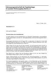 Newsletter Nr. 14 - Interessengemeinschaft der Kapitalanleger im ...