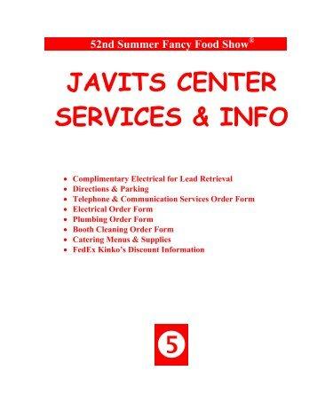 JAVITS CENTER SERVICES & INFO