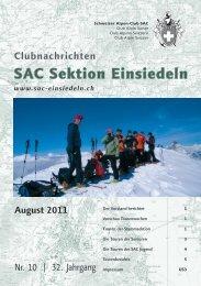 August 2011 - SAC Einsiedeln