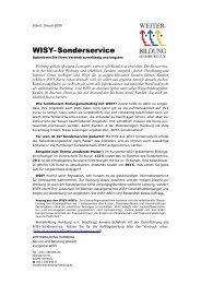 WISY-Sonderservice - Kursportal WISY