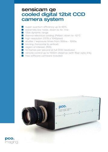 sensicam qe cooled digital 12bit CCD camera system - Photon Lines