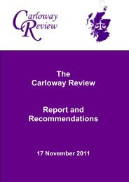Report and Recommendations - Scottish Government