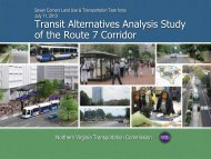 Transit Alternatives Analysis Study of the Route 7 Corridor