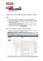 Instrucciones para configurar tu firma - CCOO