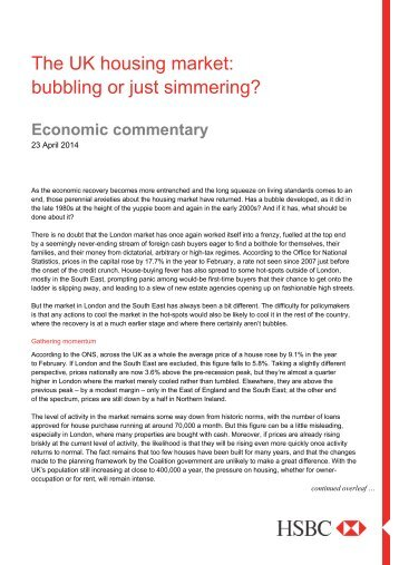Economic commentary - Business banking - HSBC