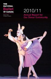 2010/11 Annual Report - The National Ballet of Canada