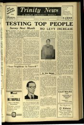 TESTING TOP PEOPLE - Trinity News Archive