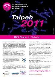 IBO Made in Taiwan - Biologie