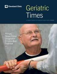 Geriatric Times - Cleveland Clinic