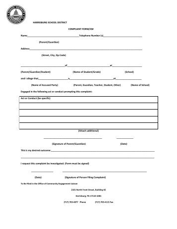 Dasa Complaint Form  Valley Central School District