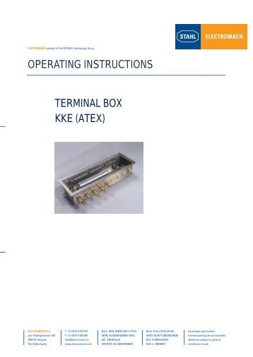 KKE Manual - Electromach BV