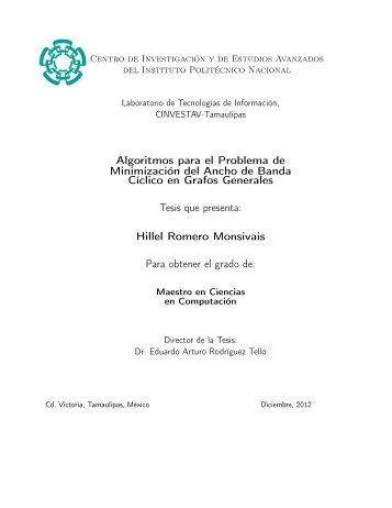 Hillel Romero M - Cinvestav-Tamaulipas