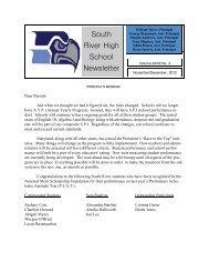 November / December 2012 - South River High School