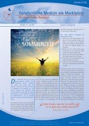 Newsletter (Ausgabe 14, Juli 2011) - Praxis Dr. med. Rainer Bohlayer