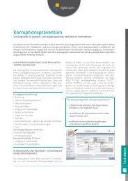 "eLearning-Reihe ""Korruptionsprävention"" - Compliance Training"