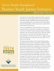 Positive Youth Justice Initiative Briefing Paper - Sierra Health ...