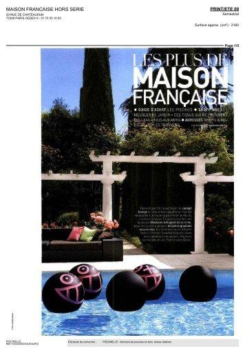 MAISON FRANCAISE HORS SERIE - Piscinelle