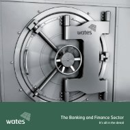 The Banking and Finance Sector - Wates