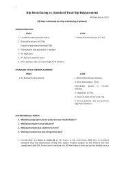 Hip Resurfacing vs. Standard Total Hip Replacement