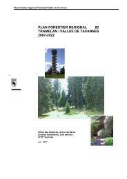 plan forestier regional 82 tramelan / vallee de