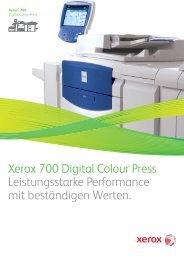 Xerox 700 Digital Colour Press Leistungsstarke Performance mit ...