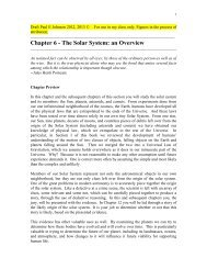 Chapter 6 - The Solar System - Department of Physics & Astronomy