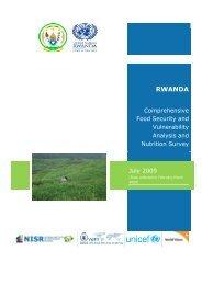 Rwanda: Comprehensive Food Security and Vulnerability Analysis