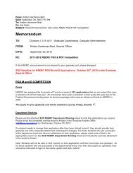 2011-2012 NSERC PGS & PDF Competition - School of Graduate ...