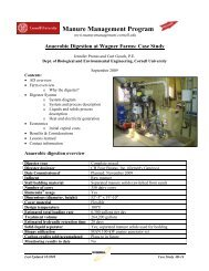 Case Study - Manure Management - Cornell University