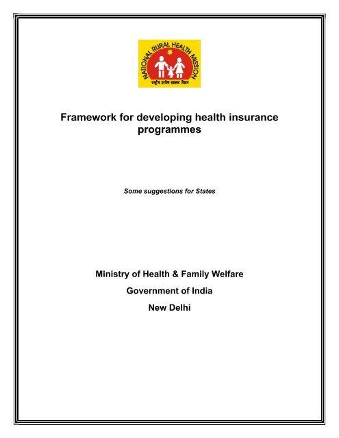 Framework For Developing Health Insurance Programmes