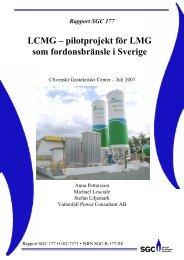 LCMG – pilotprojekt för LMG som fordonsbränsle i Sverige - SGC