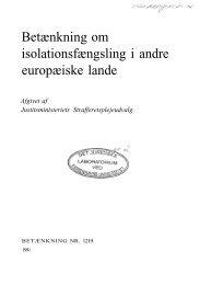 Betænkning om isolationsfængsling i andre europæiske lande - Krim