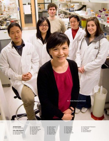Dr. Annie Huang and team - The Hospital for Sick Children
