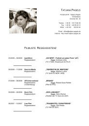 Credits Regieassistenz - Download als Pdf-Datei - Tatjana Pagels
